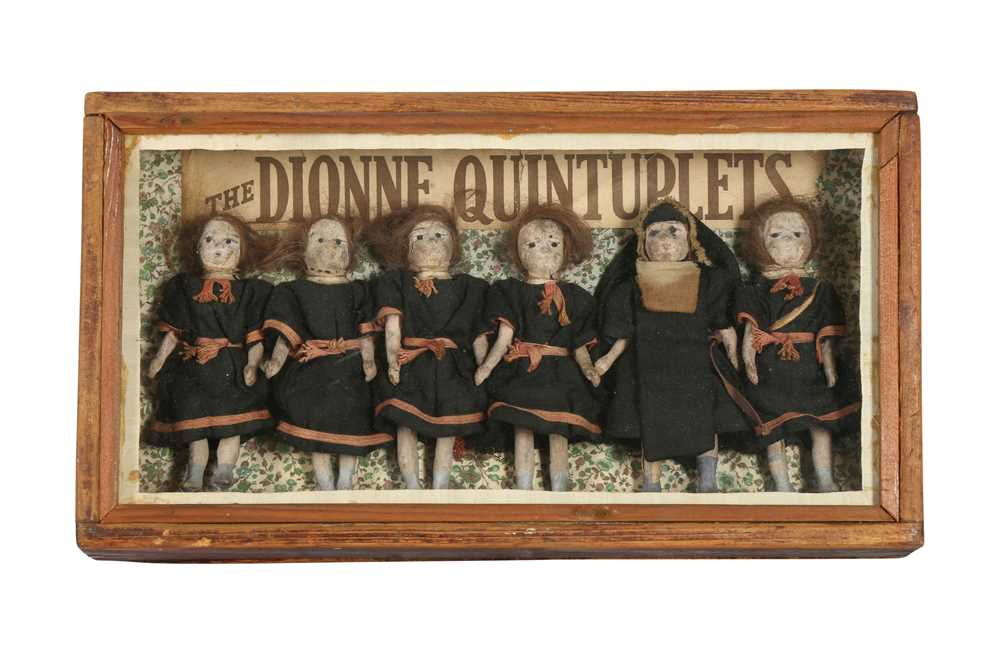 DIORAMA: AN ENGLISH DIORAMA OF THE DIONNE QUINTUPLETS