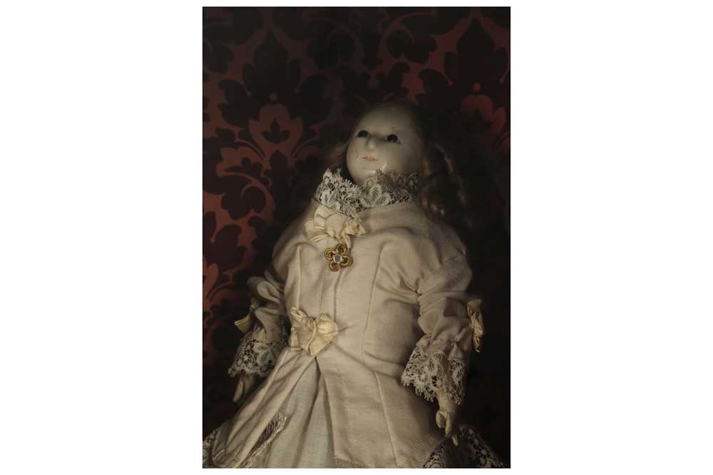 """DOLLS: A WAX HEADED """" MAD ALICE """" DOLL, PROBABLY 19TH CENTURY - Image 8 of 8"""