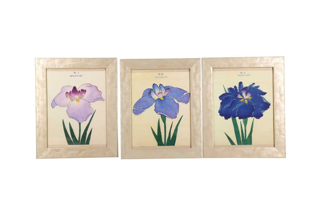 A COLLECTION OF TWELVE CONTEMPORARY JAPANESE PRINTS OF IRIS