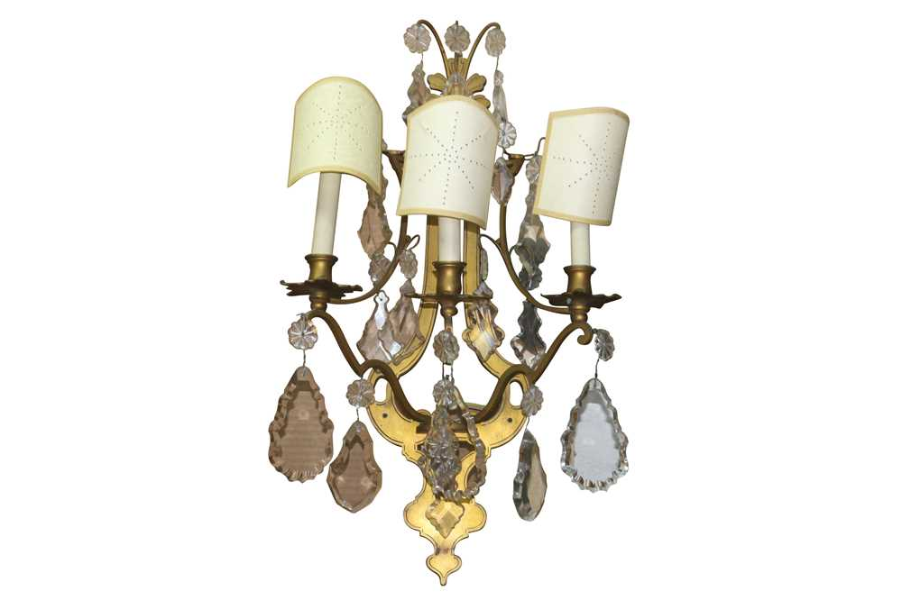 A PAIR OF FRENCH ORMOLU WALL SCONCES, LATE 19TH/ EARLY 20TH CENTURY - Image 11 of 22