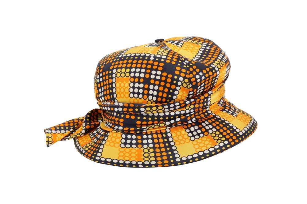 Christian Dior Mosaic Print Summer Hat