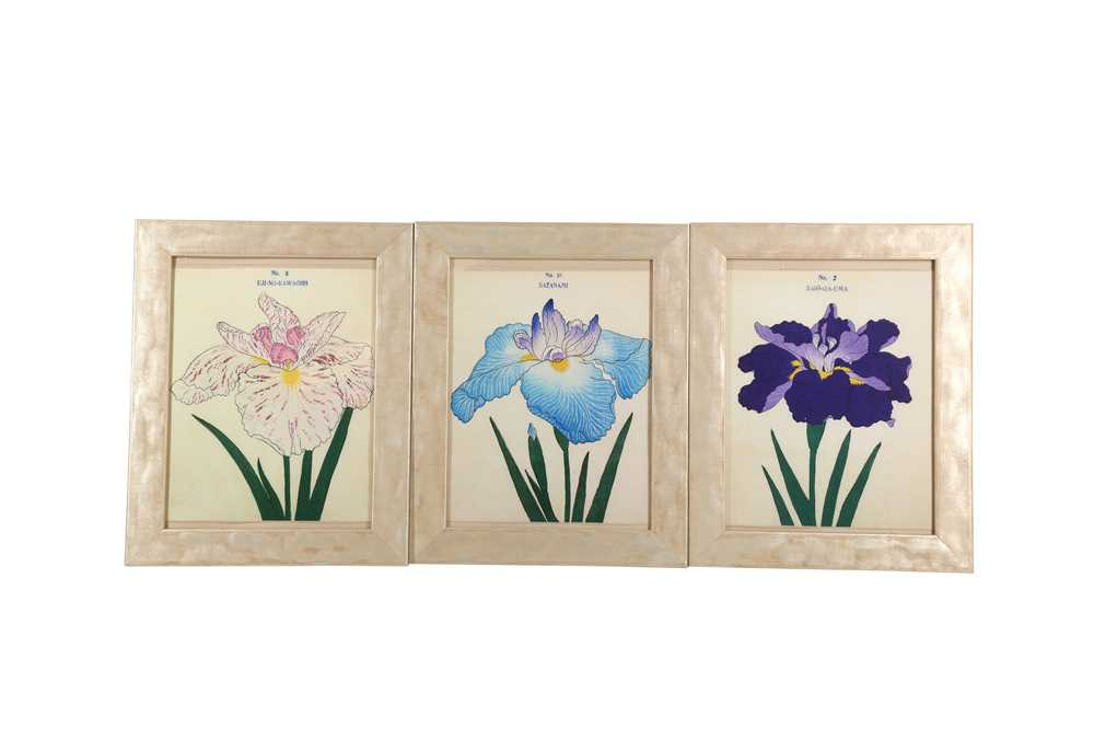 A COLLECTION OF TWELVE CONTEMPORARY JAPANESE PRINTS OF IRIS - Image 2 of 4