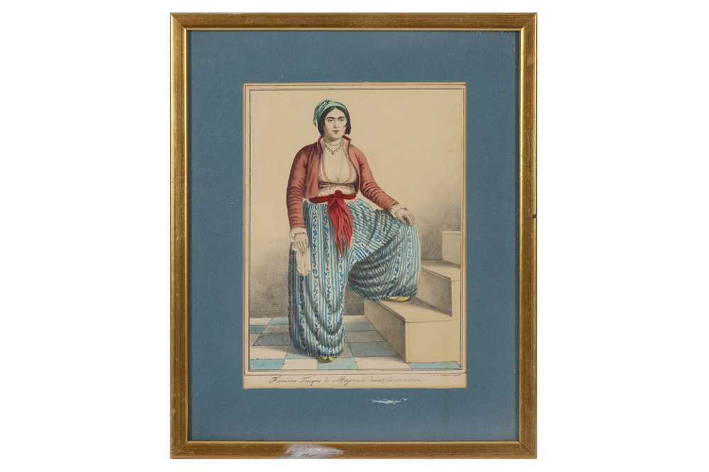 A COLLECTION OF PRINTED AND COLOURED PLATES OF TURKISH WOMEN - Image 4 of 5