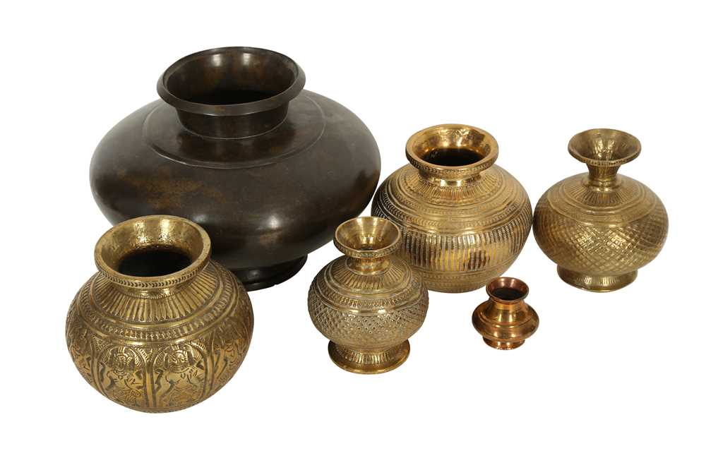 A COLLECTION OF SIX MINIATURE LOTAS (WATER VESSELS) India, 19th century - Image 2 of 2