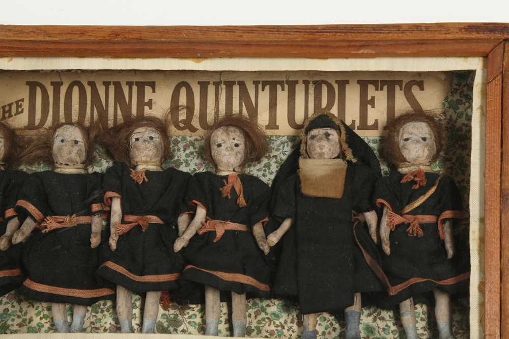 DIORAMA: AN ENGLISH DIORAMA OF THE DIONNE QUINTUPLETS - Image 2 of 5