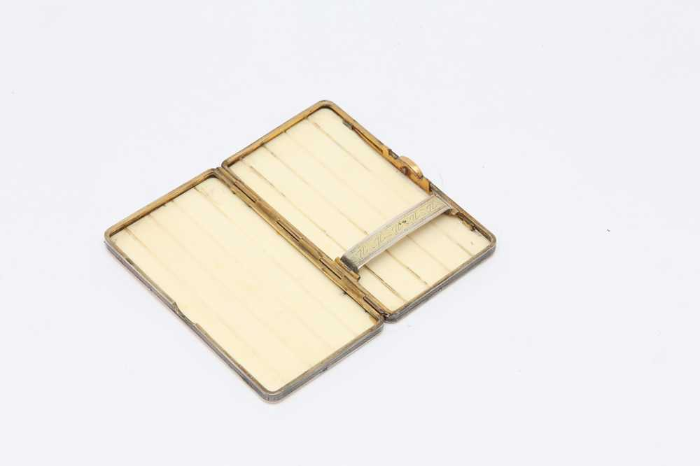AN EARLY 20TH CENTURY FRENCH ART DECO SILVER MOUNTED IVORY CIGARETTE CASE, PARIS CIRCA 1910 BY JOSEP - Image 5 of 7
