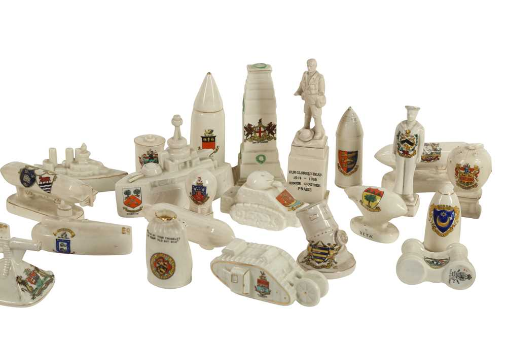 CERAMICS: AN ARCADIAN CRESTED CHINA MODEL OF TOMMY AND HIS MACHINE GUN, - Image 2 of 6