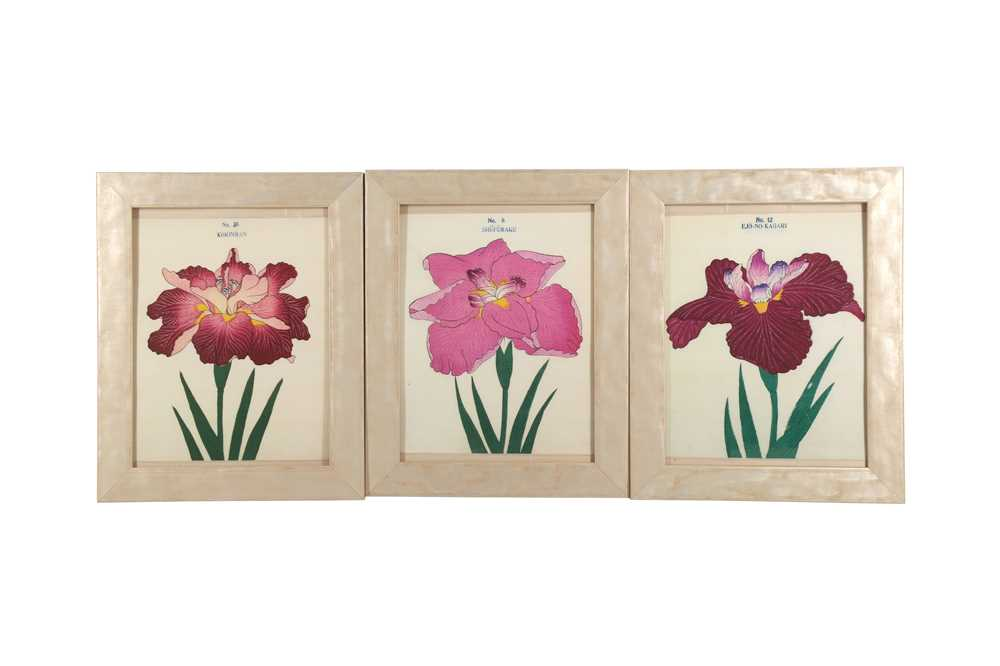 A COLLECTION OF TWELVE CONTEMPORARY JAPANESE PRINTS OF IRIS - Image 3 of 4