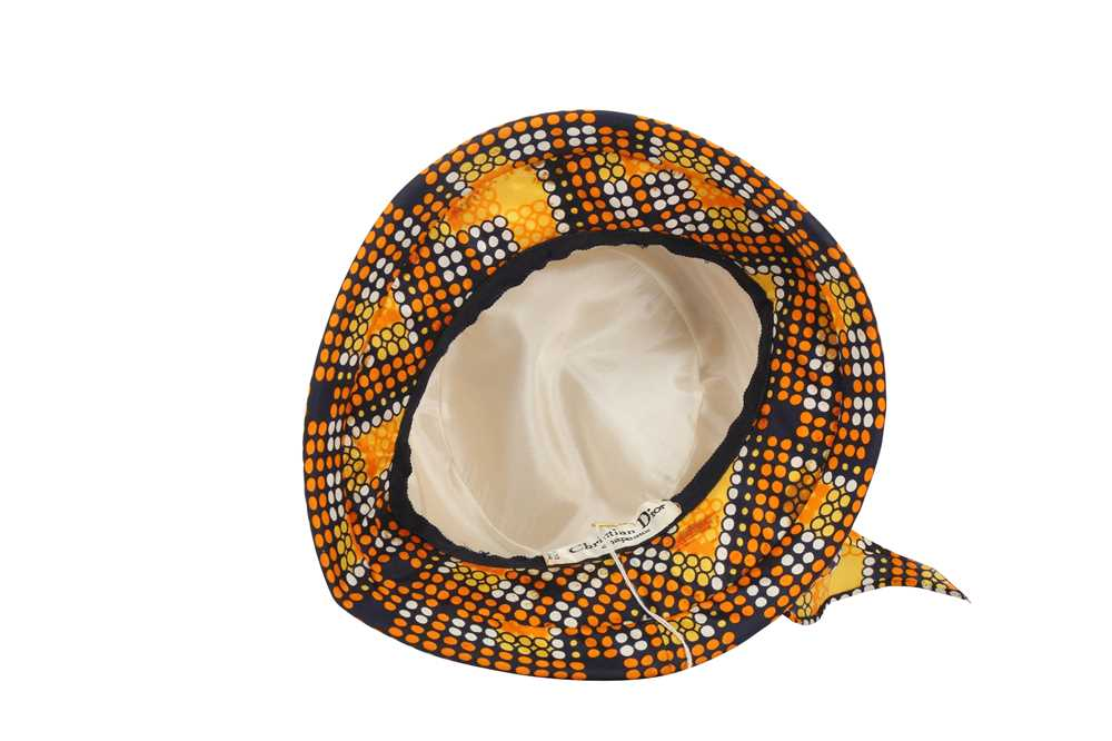 Christian Dior Mosaic Print Summer Hat - Image 4 of 4