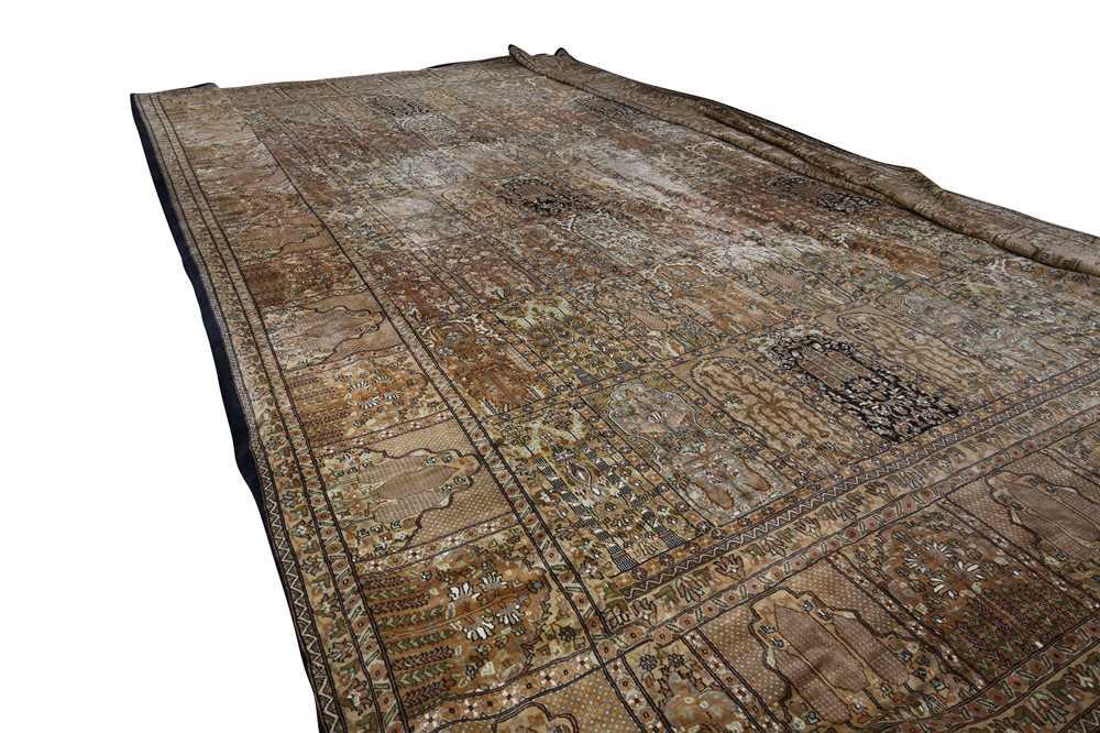 AN INDIAN CARPET OF GARDEN DESIGN - Image 7 of 10