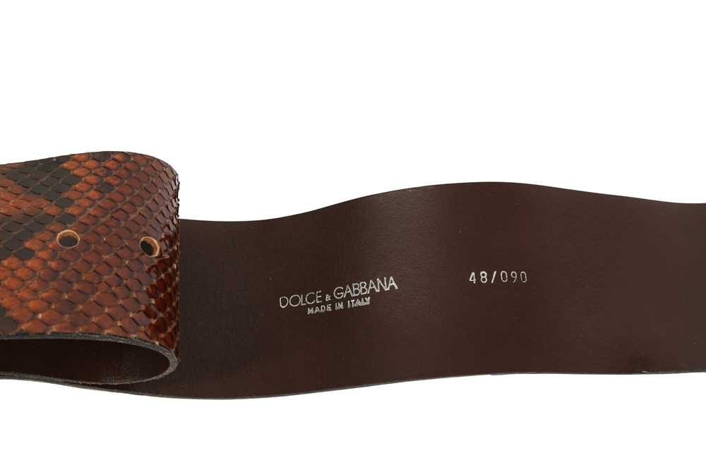 Two Dolce & Gabbana Wide Waist Belts - Size 80 & 90 - Image 2 of 3