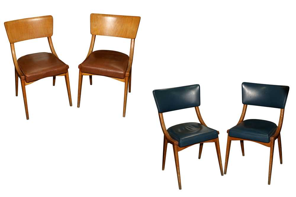 BENCHAIRS OF STOE, TWO PAIRS OF SIDE CHAIRS, CIRCA 1960S