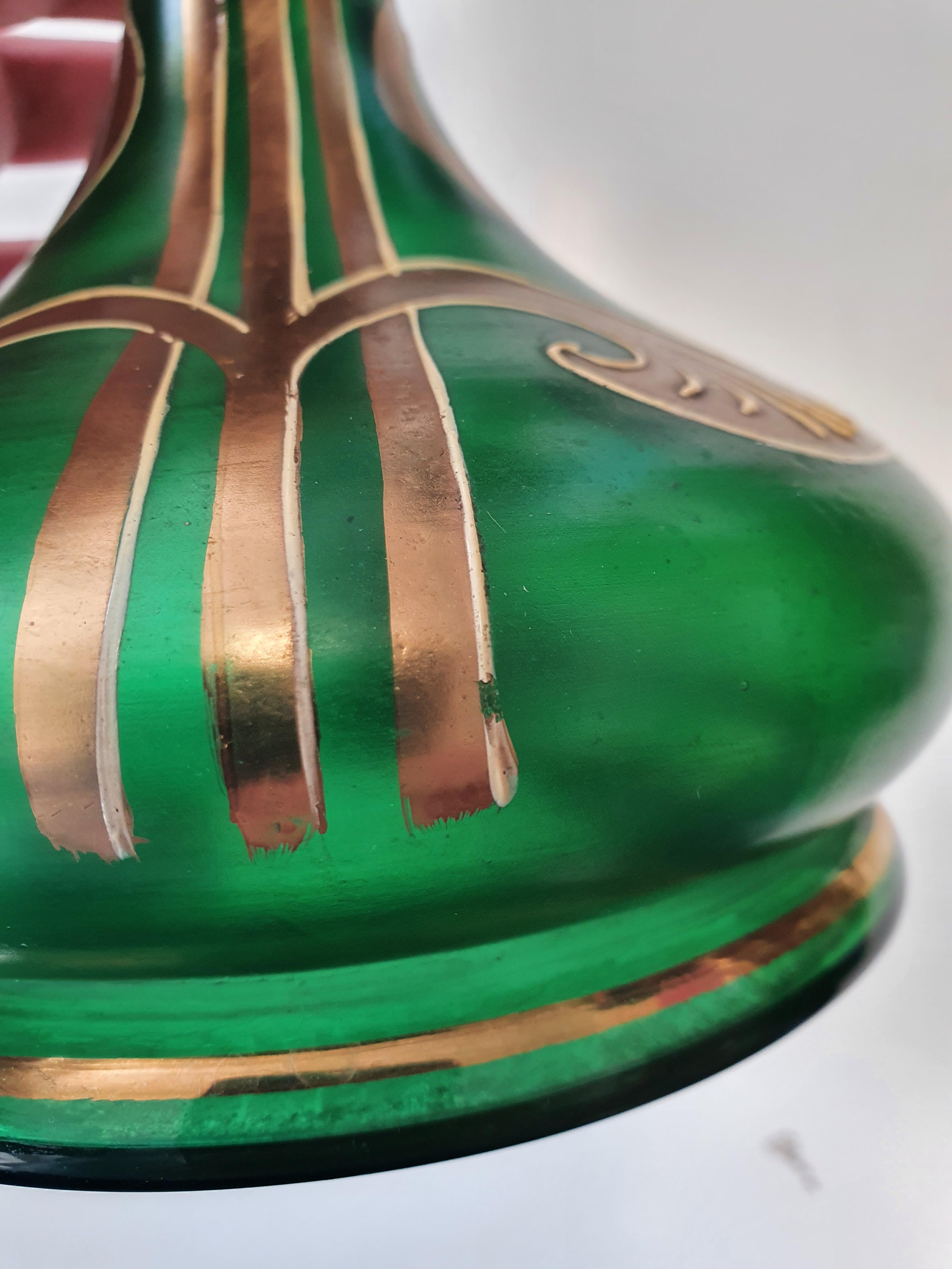 A CONTINENTAL GREEN BOTTLE VASE, LATE 20TH CENTURY - Image 4 of 12