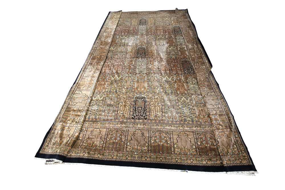 AN INDIAN CARPET OF GARDEN DESIGN