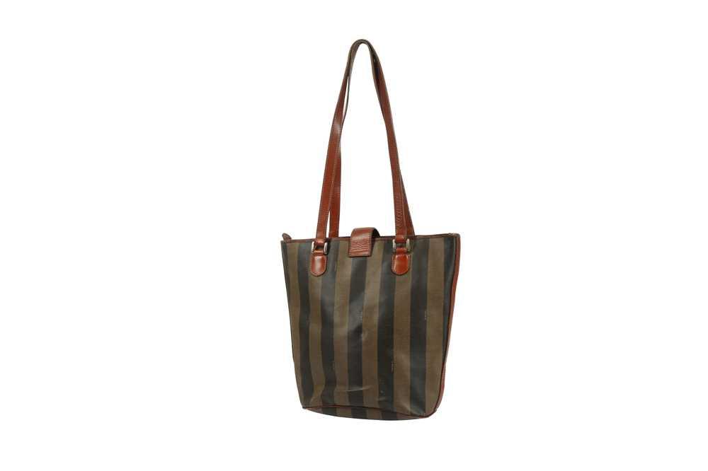 Fendi Vintage Pequin Stripe Bucket Bag - Image 2 of 5