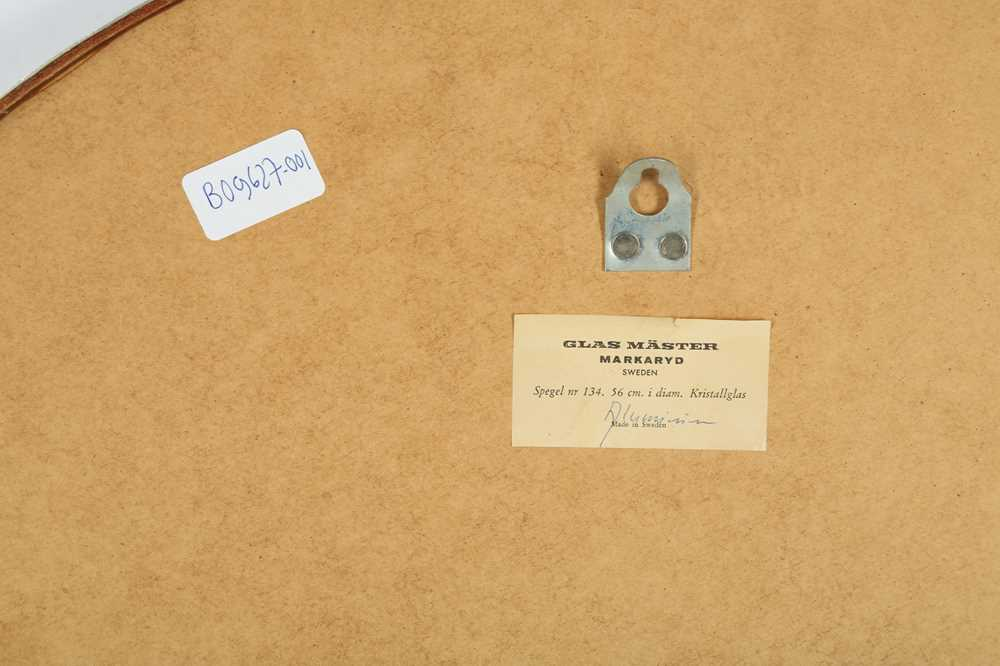 A GLAS MASTER MARKARD SWEDEN MIRROR, MID TWENTIETH CENTURY - Image 2 of 3