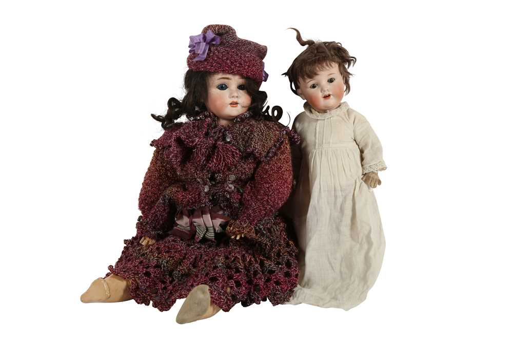 DOLLS: AN ARMAND MARSEILLE BISQUE HEAD DOLL, EARLY 20TH CENTURY