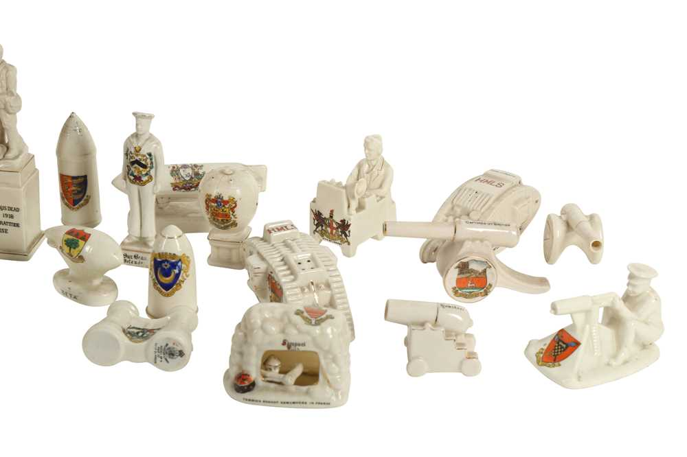 CERAMICS: AN ARCADIAN CRESTED CHINA MODEL OF TOMMY AND HIS MACHINE GUN, - Image 3 of 6
