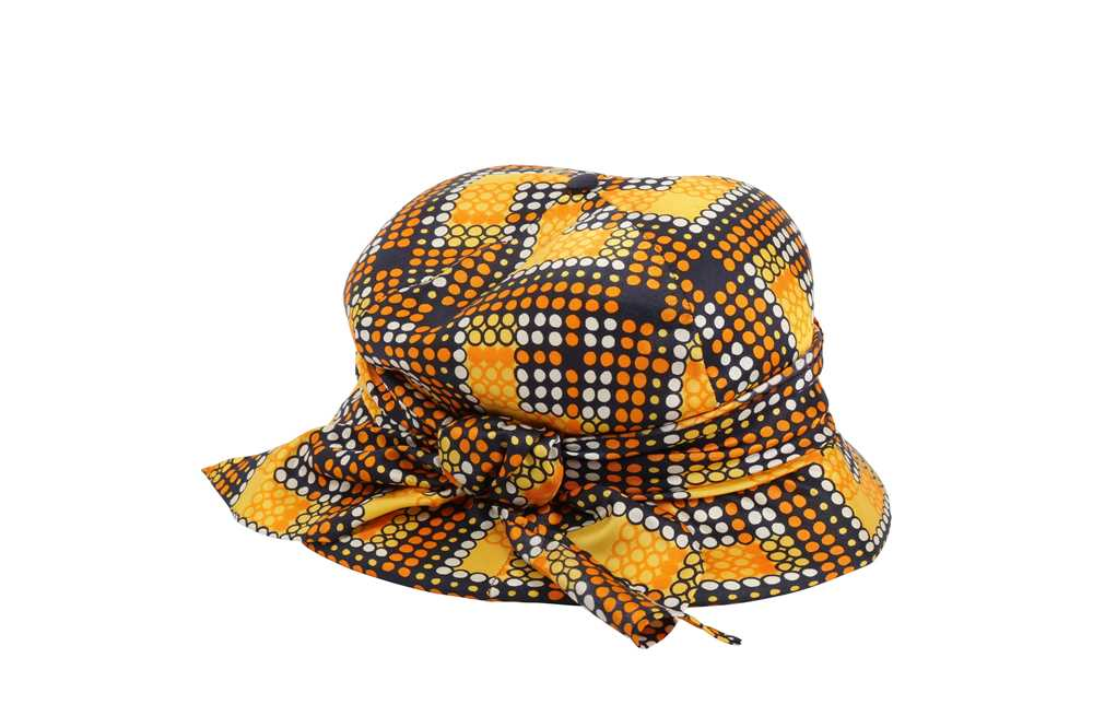 Christian Dior Mosaic Print Summer Hat - Image 2 of 4