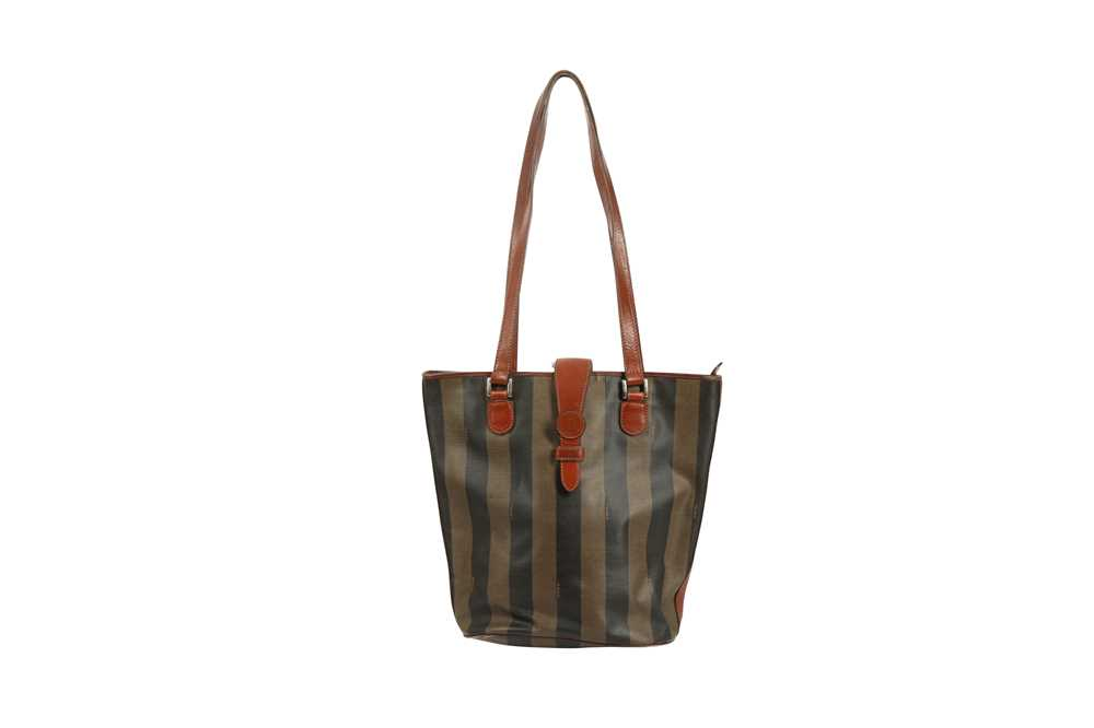 Fendi Vintage Pequin Stripe Bucket Bag