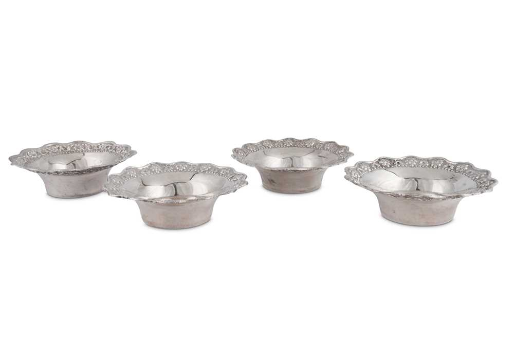 A SET OF FOUR MID-20TH CENTURY GREEK SILVER DISHES, CIRCA 1960