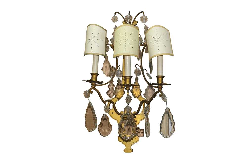 A PAIR OF FRENCH ORMOLU WALL SCONCES, LATE 19TH/ EARLY 20TH CENTURY - Image 12 of 22