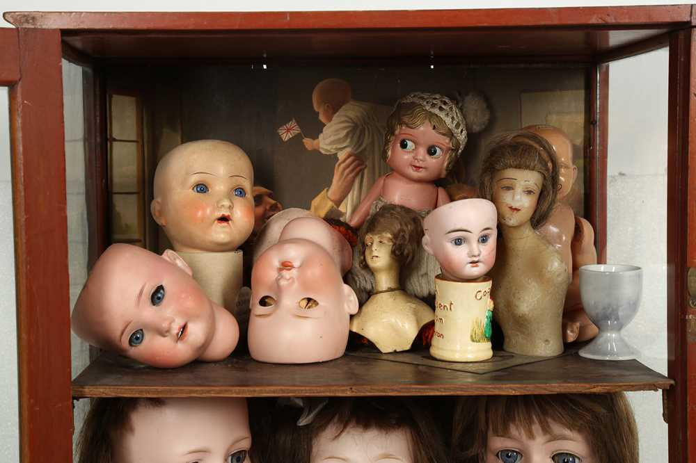 DOLLS: AN ARMAND MARSEILLE 390 BISQUE DOLL HEAD, EARLY 20TH CENTURY - Image 10 of 15