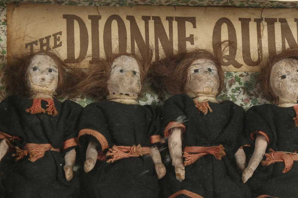 DIORAMA: AN ENGLISH DIORAMA OF THE DIONNE QUINTUPLETS - Image 3 of 5