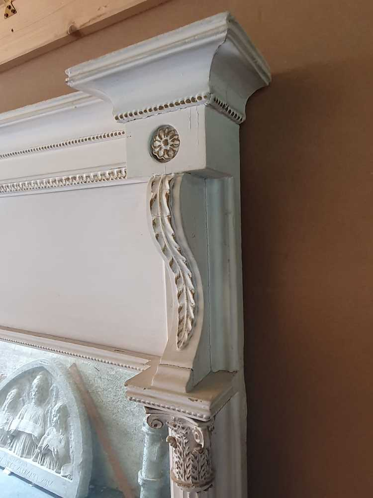 A REGENCY WHITE PAINTED AND PARCEL GILT PIER MIRROR, CIRCA 1830S AND LATER - Image 8 of 10