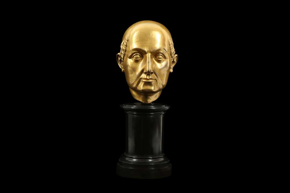 A FLORENTINE GILT BRONZE RELIQUARY HEAD IN THE MANNER OF BACCIO BANDINELLI, PROBABLY 19TH CENTURY - Image 9 of 10
