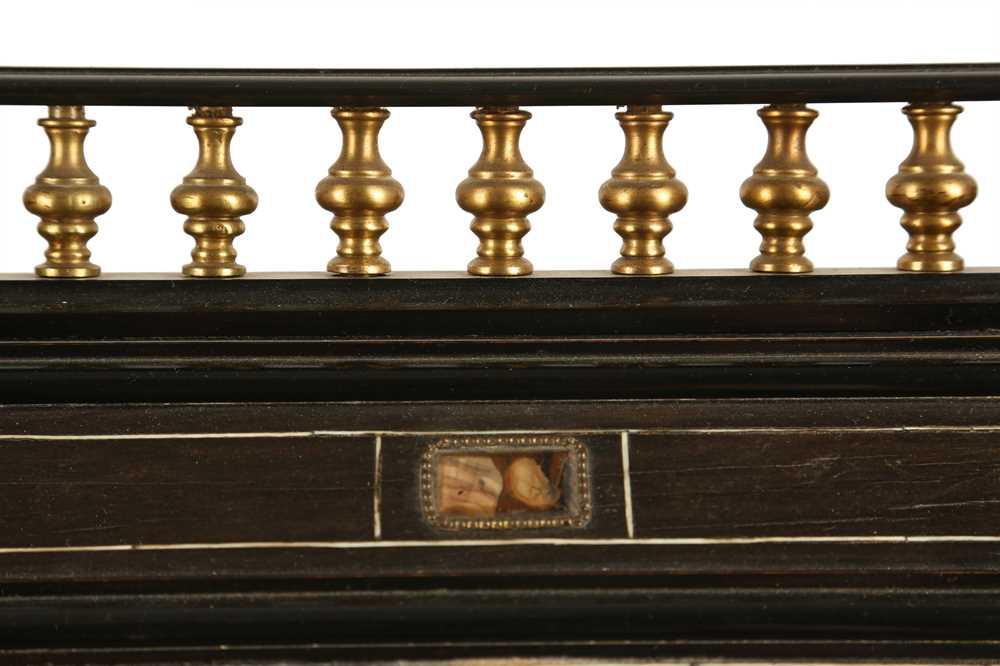 A 19TH CENTURY ITALIAN EBONISED, HARDSTONE AND IVORY INLAID TABLE CABINET - Image 8 of 12