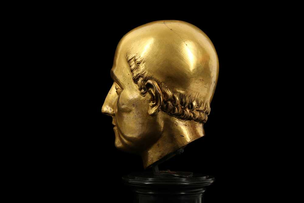 A FLORENTINE GILT BRONZE RELIQUARY HEAD IN THE MANNER OF BACCIO BANDINELLI, PROBABLY 19TH CENTURY - Image 5 of 10