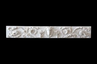 A LARGE ADAM STYLE ENGLISH MARBLE RELIEF, PROBABLY 18TH CENTURY
