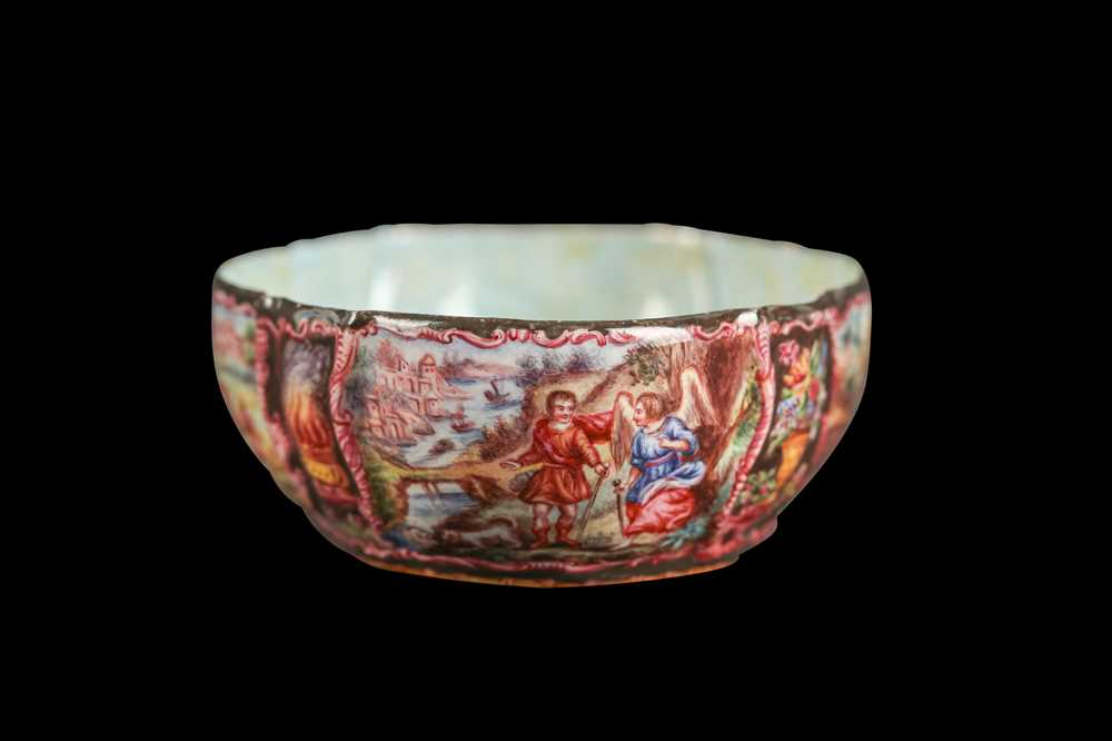 A LATE 19TH CENTURY VIENNESE ENAMEL BOWL - Image 5 of 6