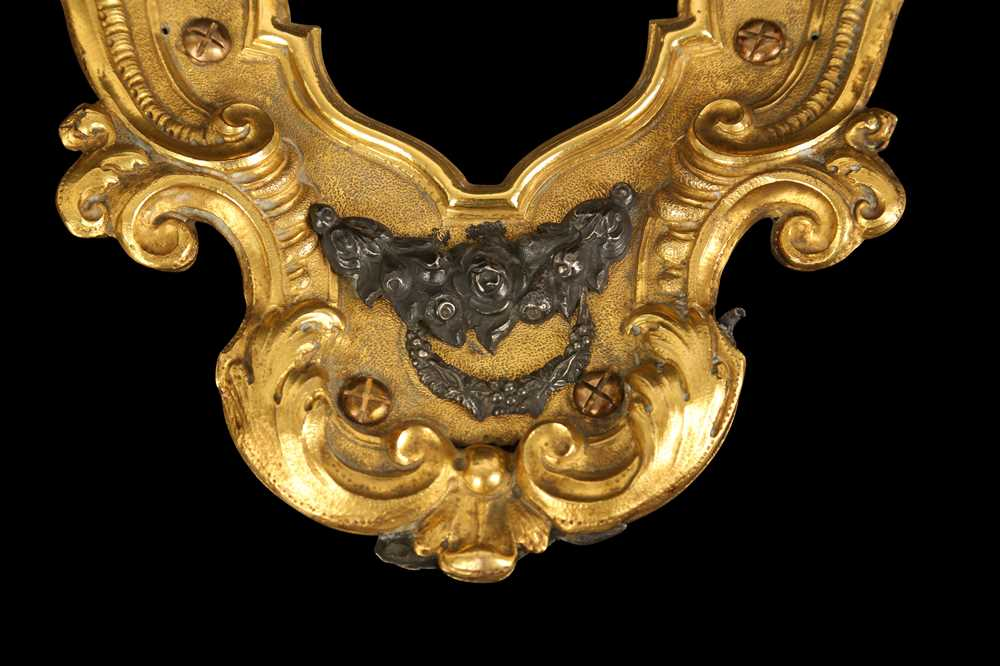 A MID 18TH CENTURY ITALIAN GILT BRONZE, SILVER, PASTE, MARBLE AND CORAL MOUNTED MIRROR POSSIBLY TRAP - Image 3 of 4