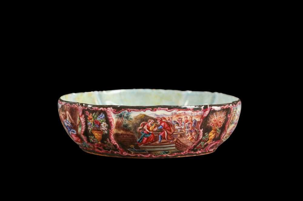 A LATE 19TH CENTURY VIENNESE ENAMEL BOWL - Image 6 of 6