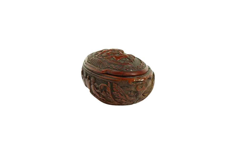 A RARE 18TH CENTURY COQUILLA NUT SNUFF BOX CARVED WITH A BEAST - Image 2 of 14