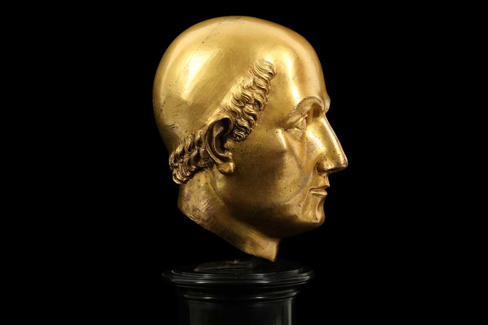 A FLORENTINE GILT BRONZE RELIQUARY HEAD IN THE MANNER OF BACCIO BANDINELLI, PROBABLY 19TH CENTURY - Image 6 of 10