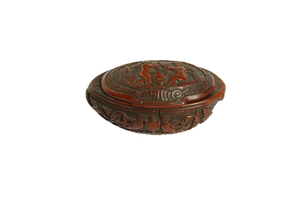 A RARE 18TH CENTURY COQUILLA NUT SNUFF BOX CARVED WITH A BEAST - Image 13 of 14