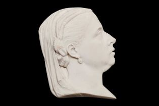 A 19TH CENTURY MARBLE RELIEF OF QUEEN VICTORIA