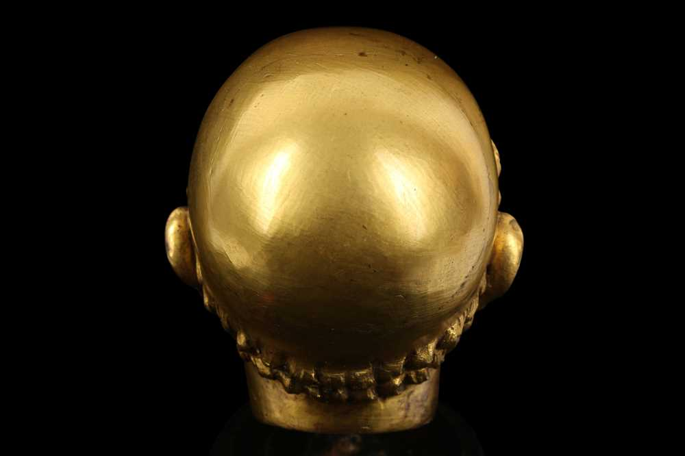 A FLORENTINE GILT BRONZE RELIQUARY HEAD IN THE MANNER OF BACCIO BANDINELLI, PROBABLY 19TH CENTURY - Image 10 of 10