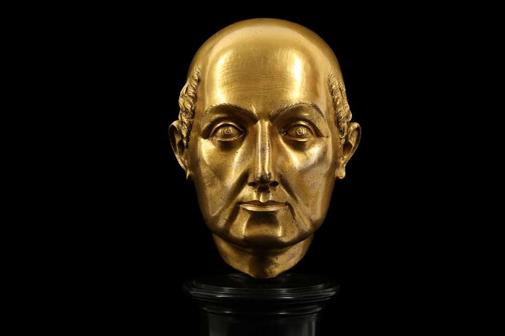A FLORENTINE GILT BRONZE RELIQUARY HEAD IN THE MANNER OF BACCIO BANDINELLI, PROBABLY 19TH CENTURY - Image 7 of 10