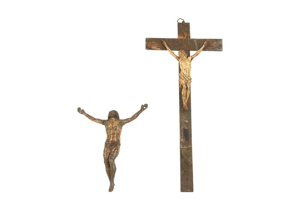 TWO 18TH CENTURY FRENCH POLYCHROME CORPUS CHRISTI