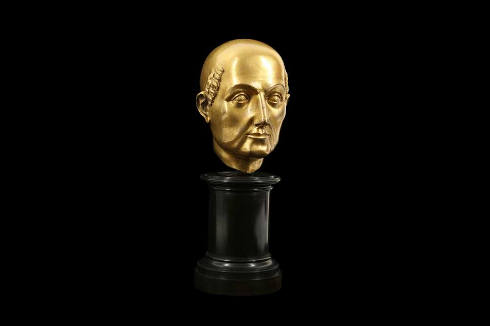 A FLORENTINE GILT BRONZE RELIQUARY HEAD IN THE MANNER OF BACCIO BANDINELLI, PROBABLY 19TH CENTURY - Image 3 of 10
