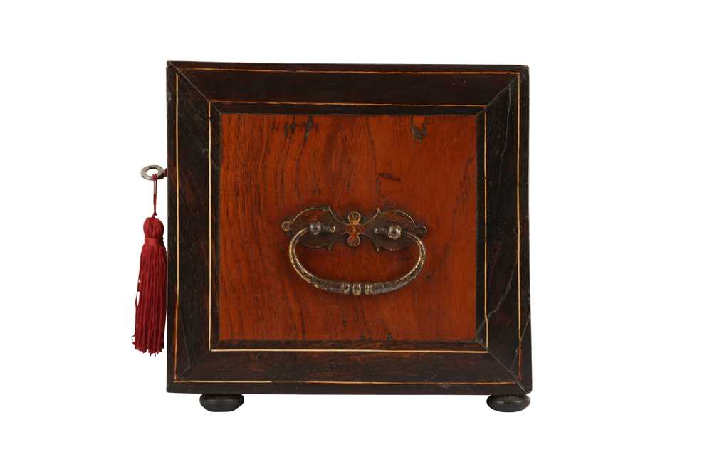 A 17TH CENTURY AND LATER FLEMISH FRUITWOOD, ROSEWOOD AND EBONISED TABLE CABINET - Image 6 of 7