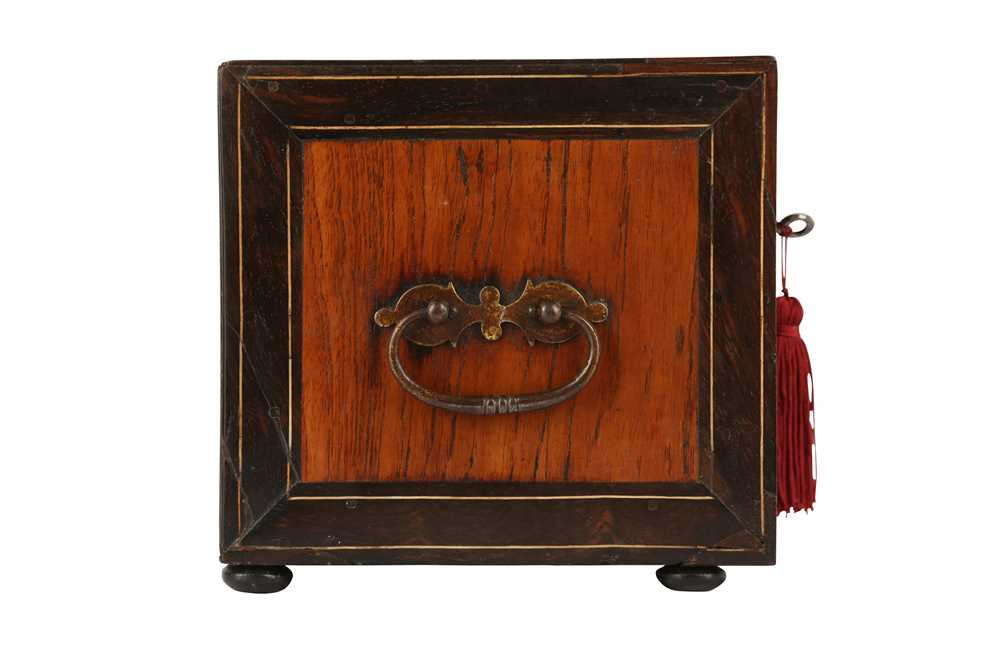 A 17TH CENTURY AND LATER FLEMISH FRUITWOOD, ROSEWOOD AND EBONISED TABLE CABINET - Image 2 of 7