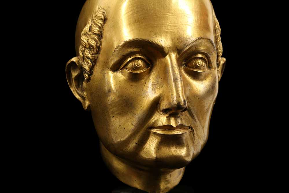 A FLORENTINE GILT BRONZE RELIQUARY HEAD IN THE MANNER OF BACCIO BANDINELLI, PROBABLY 19TH CENTURY - Image 4 of 10