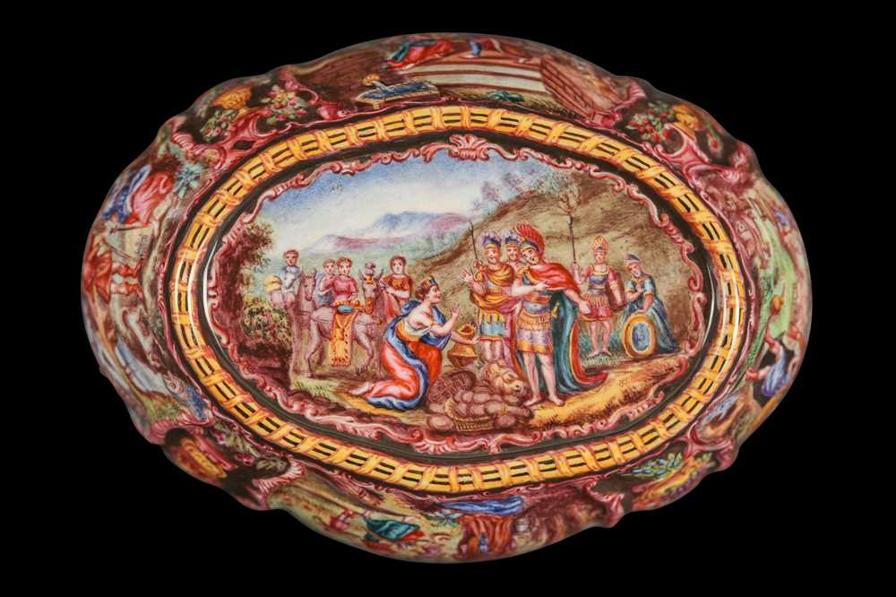 A LATE 19TH CENTURY VIENNESE ENAMEL BOWL