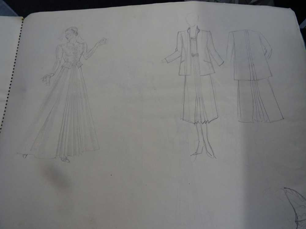 ATTRIBUTED TO DAME MARY QUANT (BORN 1930), STUDENT'S SKETCHBOOK OF FASHION STUDIES - Image 18 of 22