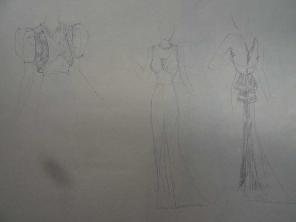 ATTRIBUTED TO DAME MARY QUANT (BORN 1930), STUDENT'S SKETCHBOOK OF FASHION STUDIES - Image 13 of 22